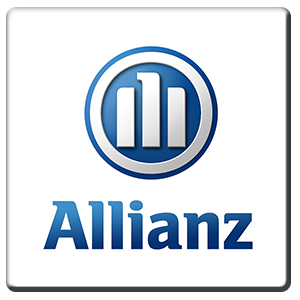 A square tile bearing the company logo of Allianz